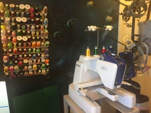 embroidery thread and machine